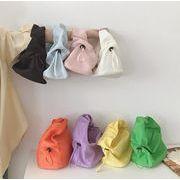 手持ちバッグ ミニ 純色 カラフル 人気 ファッション ハンドバッグ INS 韓国風