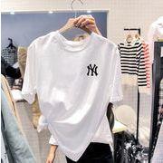 2020 新作 英字 NY  半袖 トップス Tシャツ 夏新作 韓国風