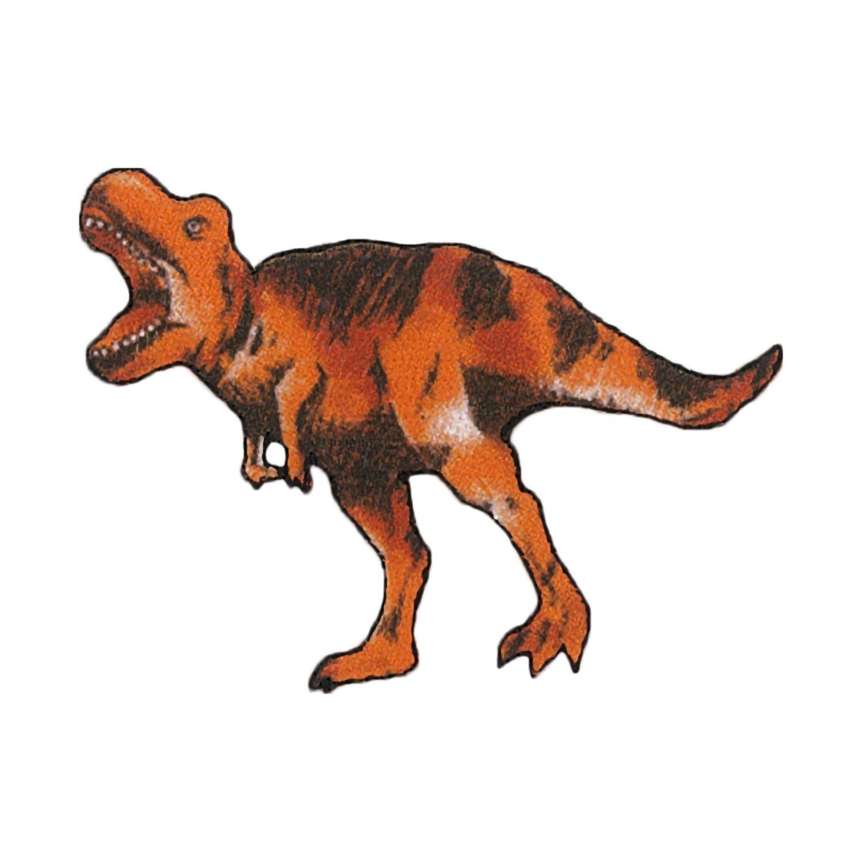 お気に入りシリーズ アイロン接着 刺繍風プリントワッペン ティラノサウルス