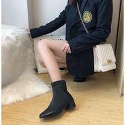 マーティンブーツ 女 秋 新しいデザイン 英国スタイル アンティーク調 スクエアヘッド