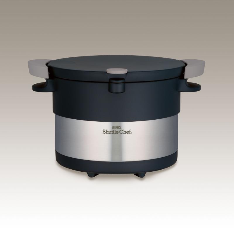 (在庫処分)サーモス 真空保温調理器 シャトルシェフ 3.0L KBC-3001 SBK ステンレスブラック