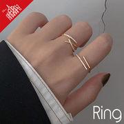 BLHW164056◆5000以上【送料無料】◆リング◆開口指輪 フォークリング 銅製 ラインストーン