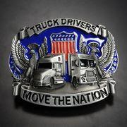 ベルトバックル TRUCK DRIVERS アメリカ国章 3D