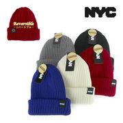 NYCライセンスワッペンRVSコットンニットワッチ ヤング帽子
