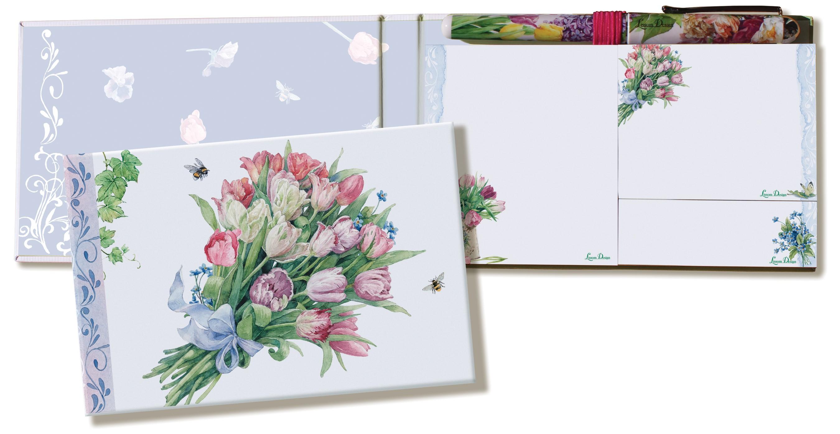 リゾムデザイン ブック型付箋メモ・ペン付【フローラルアフェクション】