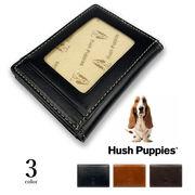 全3色 Hush Puppies ハッシュパピー リアルレザー バイカラー 定期入れ カードケース パスケース