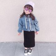 キッズ デニムジャケット パーカー 子供服 アウター 通学 おでかけ 2020新作 セール 親子服 ファッション
