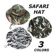 サファリハット メンズ 帽子 おしゃれ つば広 迷彩 ミリタリー アドベンチャーハット バケットハット