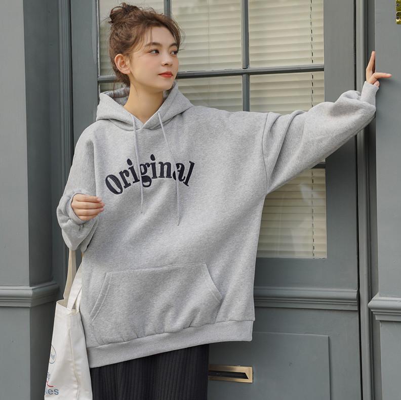 ?韓国ファッション/アルファベット/パーカー/スウェットシャツ?