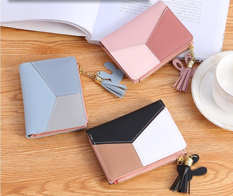 韓国レディース財布 3つ折り  手拿  大容量     多機能    カード入れ   小銭入れ   3色