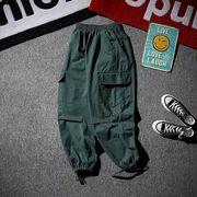 ワイドレッグパンツ ロングパンツ 韓国ファッション 3色 S-XXXL