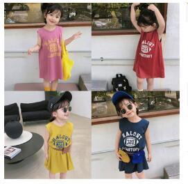 韓国ファッション 韓国子供服 ワンピース 2020春夏新作 子供服 キッズ女の子  7-15 4色