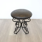 【直送可】アンティーク調 スツール 椅子<ペイズリー柄>
