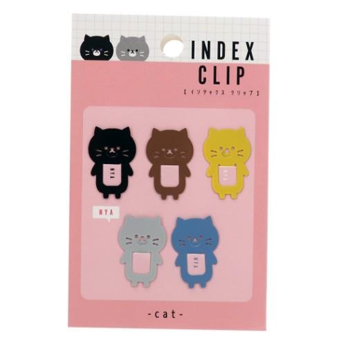 【クリップポケット】ネコ インデックスクリップ