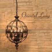 【吊照明】オリエンタルペンダントランプ[159BK(4灯)]<E26/水雷型>
