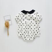 ベビー 連体衣 人気商品 ドット トップス 赤ちゃん ロンパース キッズ 2020新作 セール ファッション