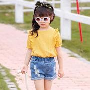 シャツ ワンピース プリンセス 無地 キッズ 女の子 韓国子供服 2020新作 SALE ファッション
