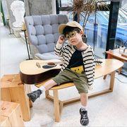 トップス  ボーダー 長袖 夏 人気商品 キッズ 韓国子供服 男女兼用 2020新作 SALE ファッション m14806