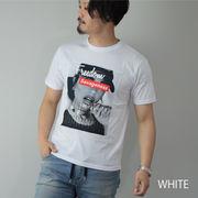 【2020新作】 Tシャツ メンズ 半袖 ガールプリント フォトプリント ロゴ ボックスロゴ サガラ刺繍 エンボス