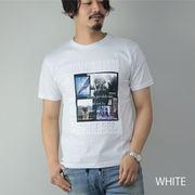 【2020新作】 半袖Tシャツ メンズ ガールプリント フォトプリント ロゴ エンボス加工 カットソー トップス