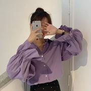 韓国風 ネット レッド シャツ 女 春 新しいデザイン デザイン 感 小 ルース 長袖シ