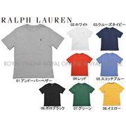 S) 【ポロ ラルフローレン】 323-674984 半袖Tシャツ ワンポイント クルーネック 全8色 メンズ レディース