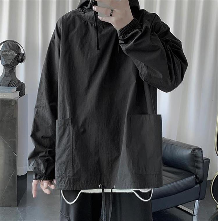 超激安?短納期?原宿BF フード付き バーカー メンズウェア 薄いモデル コート トップス