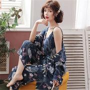 ★韓国大人気 デザイン★ 大きいサイズ  ルームウェア パジャマ  春 セクシー  3点セット ベアトップ