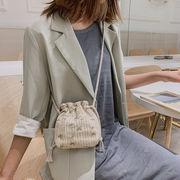 2020新作 ショルダーバッグ ファッション 刺繍 花柄 わら編み タッセル