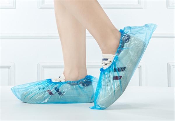 使い捨て 靴カバー 厚 屋内用 防水 家庭用 滑り止め 耐摩耗性 防塵 学生用 透明 プラスチック