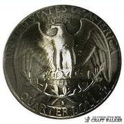 【レプリカ】コインコンチョ◆ワシントンイーグル 25セント◆ビンテージ風◆23mm◆10個