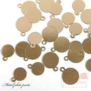 単価5円 金属チャーム ラウンドプレート /J6-4037/4038