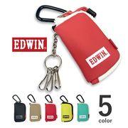 【全5色】 EDWIN エドウィン カラフルラミネート加工 スマートキーケース カラビナ 鍵入れ
