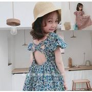 2020夏新作 キッズワンピース 女の子 子供服 夏 花柄 ワンピース 韓国ファッション