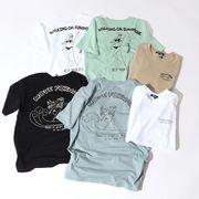 【2020春夏新作】ユニセックス グラフィック サーフプリント 半袖 Tシャツ