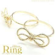 ★新色入荷★L&A original parts★Ribbonの指輪★繊細&華奢なデザイン♪最高級鍍金★