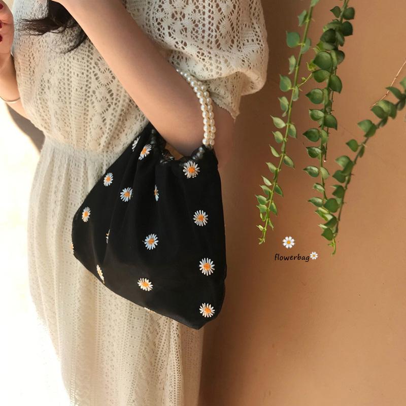 バッグ ハンドバッグ 刺繍 小ぶりバッグ シェルバッグ レディース