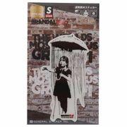 【ステッカー】バンクシー ダイカットクリアステッカー Umbrella Girl Banksy