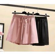 【大きいサイズL-4XL】ファッション半ズボン♪ブラック/ピンク2色展開◆