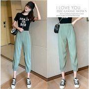 【大きいサイズXL-4XL】ファッションパンツ♪ブラック/グリーン2色展開◆