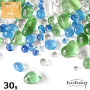 30g 【ビーズ パール】 つぶつぶガラス カラーミックス アソート