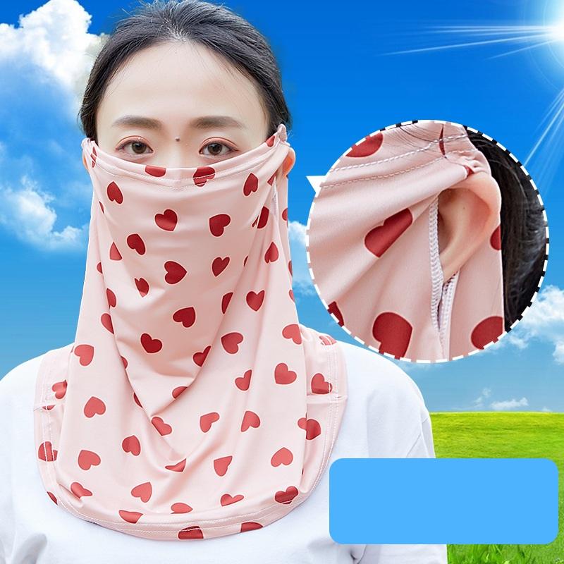 フェイスマスク フェイスガード プリント アウトドア サイクリング 日焼け対策 紫外線対策 ネックガード