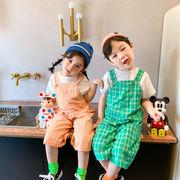 ズボンパンツ九分サロペットベビー 韓国子供服 男の子女の子2020新作動画あり