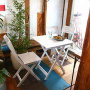 ガーデン 3点セット #VFS-GC21SM テーブル・チェアー×2 ホワイト