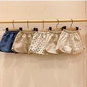宝来商事 韓国キッズ服 綿麻短パンツ 子供用パンツ 男の子女の子 ベビー透気バンパンツ 多款式