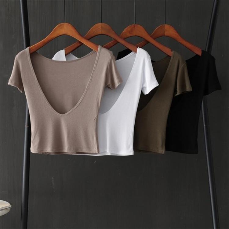 個性 背透けて ラウンドネック 半袖  Tシャツ 夏 カジュアル スリム INSスタイル
