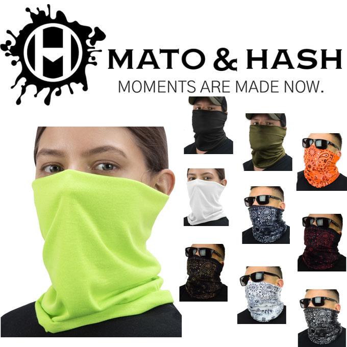 Mato & Hash Tube Bandanna  Neck Gaiter Multi-functional Face Cover 18780