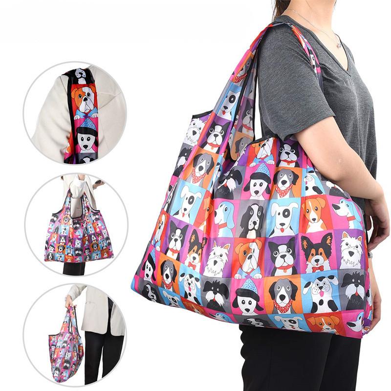 大容量 ショッピングバッグ 収納バッグ エコバッグ 折りたたみバッグ 小物収納 旅行出張用 レジ袋