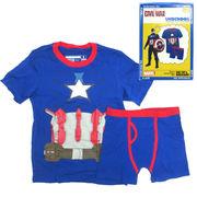 UNDEROOS CAPTAIN AMERICA 【キャプテンアメリカ Tシャツ & ブリーフ セット】【キッズ】