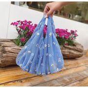 2020年新作 ハンドバッグ 鞄 カバン メッシュ エコバッグ 花柄 ショッピング 刺繍 ins大人気